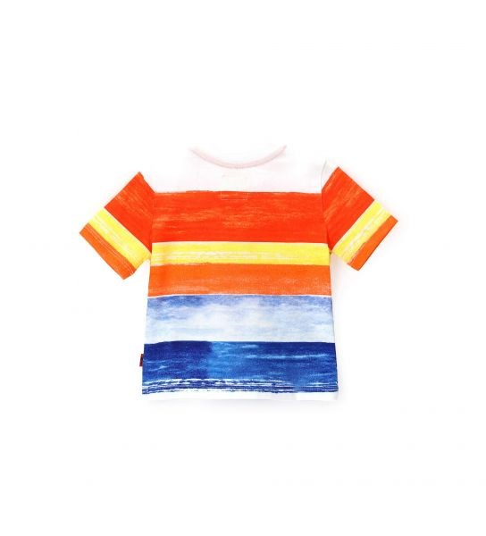 SHORT SLEEVE T-SHIRT AND ALL OVER PRINT