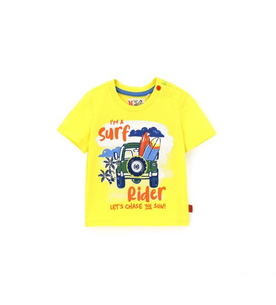 SHORT SLEEVE T-SHIRT WITH EMBROIDERY PRINT