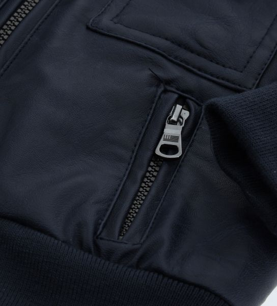 FAUX LEATHER JACKET LINED IN NYLON