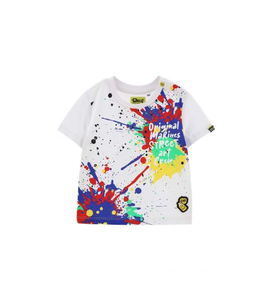 SHORT SLEEVE T-SHIRT AND FRONT PRINT