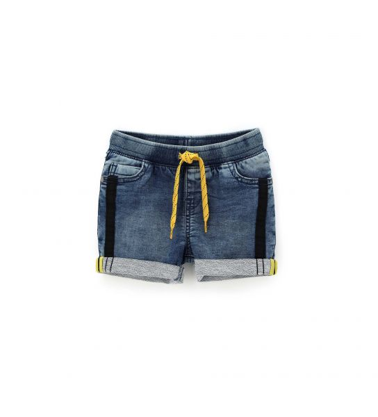 SHORT IN FELPA DENIM E PATCH