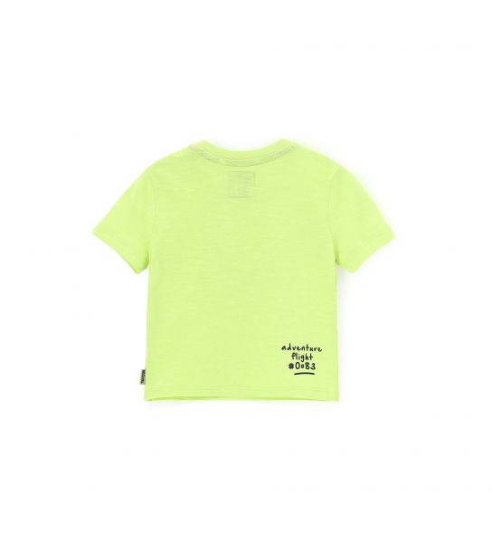SHORT SLEEVE T-SHIRT WITH PRINT AND EMBROIDERY