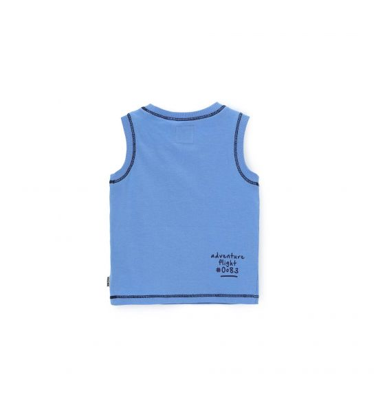 TANK TOP WITH PRINT AND EMBROIDERY
