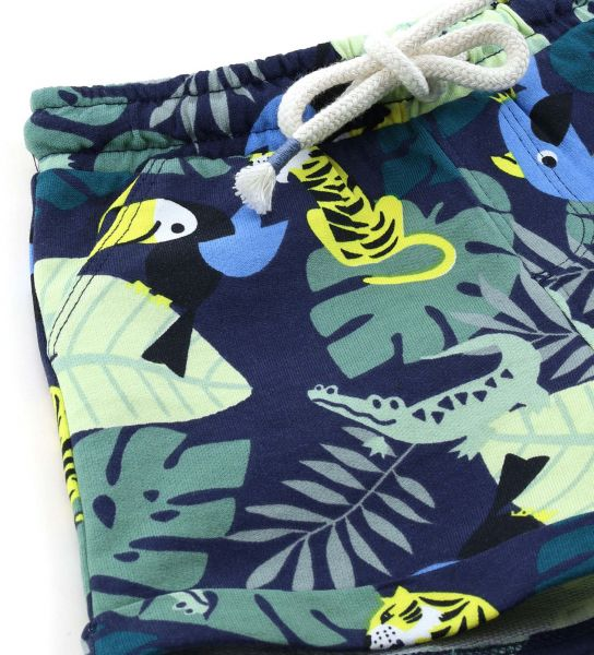 COTTON SWEAT SHORTS WITH ALL OVER PRINT