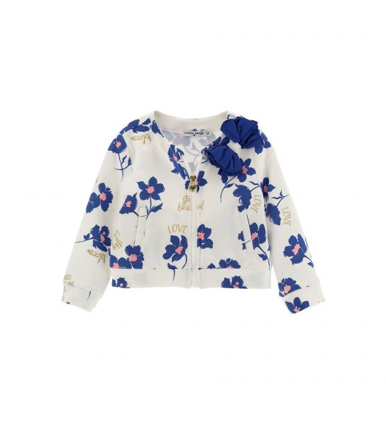 SWEATSHIRT WITH PLISSÈ BOW BY CHIFFON