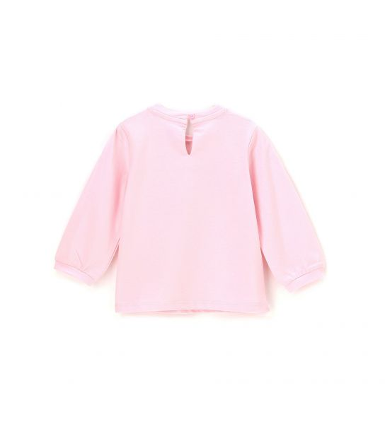 LONG PUFF SLEEVE T-SHIRT AND RIBBED CUFF