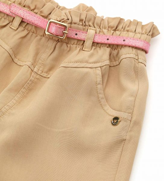 PAPERBAG SOFT FABRIC TROUSERS WITH ELASTIC WAIST