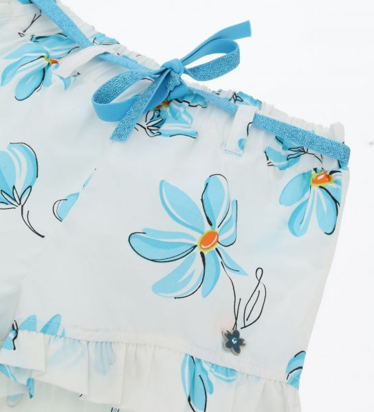 SHORT IN COTTON AND ALL OVER PRINT