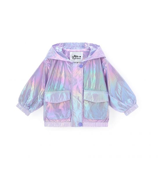 IRIDESCENT EFFECT NYLON JACKET
