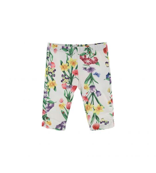 COTTON LEGGINGS WITH ALL OVER PRINT