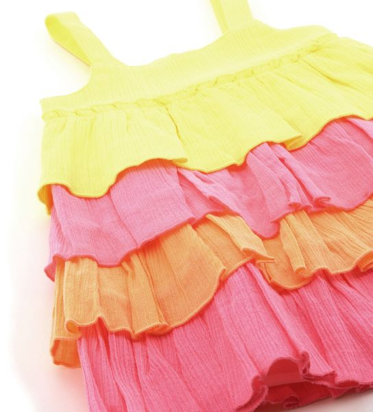 DRESS IN COTTON WITH FLOUNCES