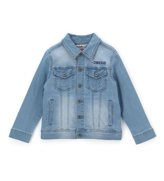 JEANS JACKET WITH PRINT