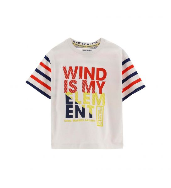SHORT SLEEVE COTTON T-SHIRT WITH VARIOUS PRINTS