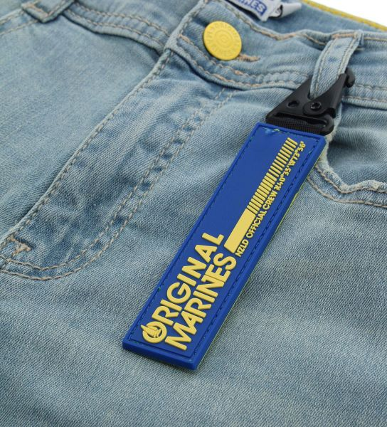ADJUSTABLE WAIST STRETCH DENIM JEANS