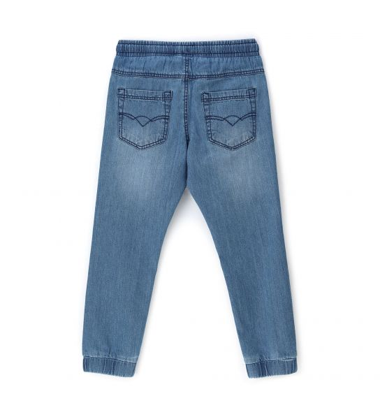 COTTON DENIM JEANS WITH FRONT SIDE POCKETS