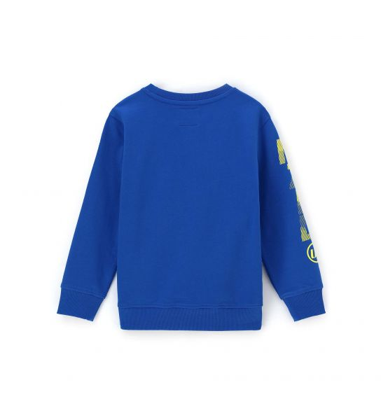 COTTON SWEATSHIRT WITH RELIEF-EFFECT PRINT IN FRONT