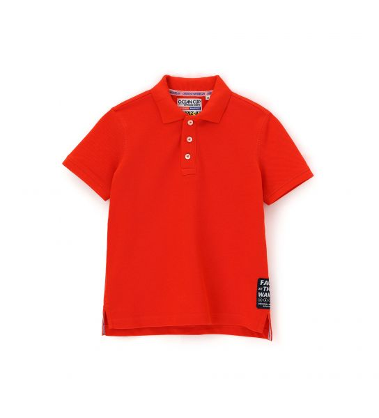 LONG SLEEVE PIQUET POLO WITH RIBBED FINISHES