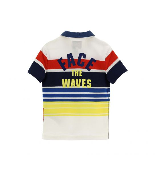 STRIPED YARN DYED COTTON SHORT SLEEVE POLO