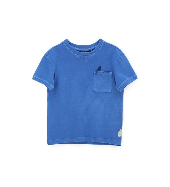 SHORT SLEEVE COTTON T-SHIRT WITH FRONT POCKET