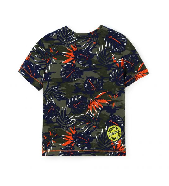 T-SHIRT COTONE MANICA CORTA STAMPA ALL OVER