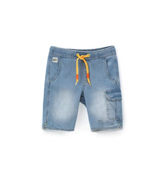 DENIM BERMUDA WITH SIDE POCKETS