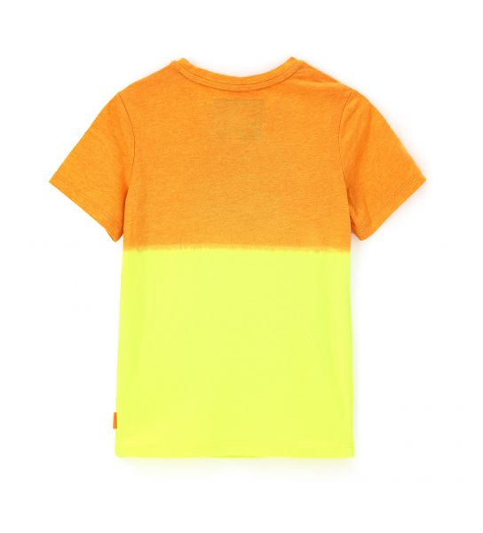 SHORT SLEEVE COTTON T-SHIRT WITH SHADED EFFECT