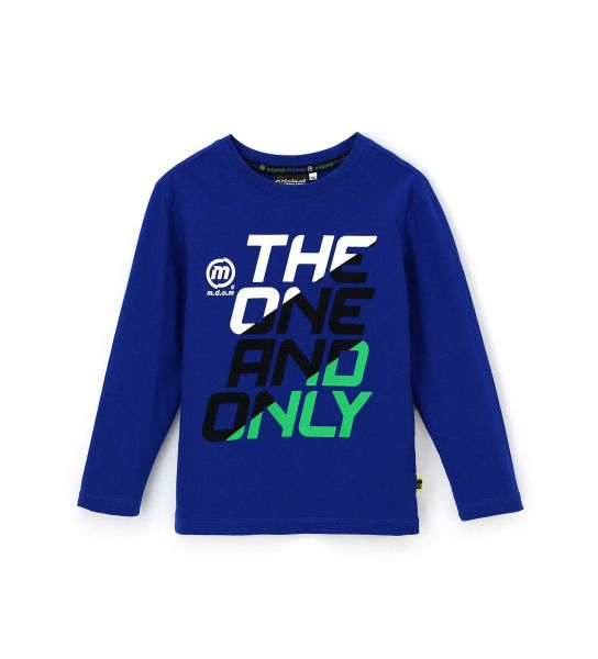 COTTON LONG SLEEVE T-SHIRT WITH BACK CUT