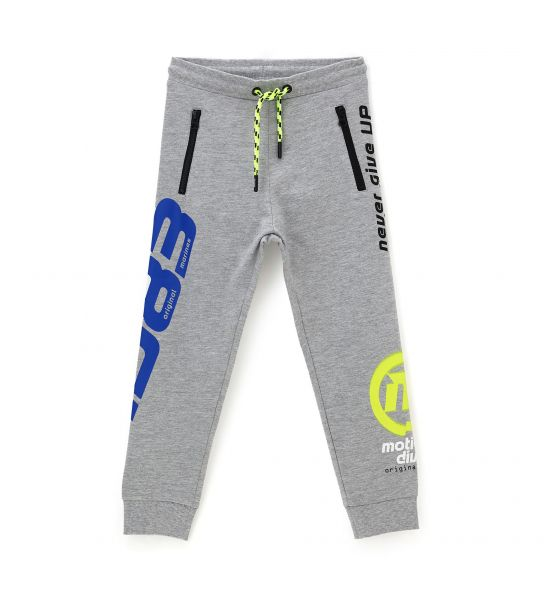 COTTON SWEATPANTS WITH RIB FINISHES AND LACES