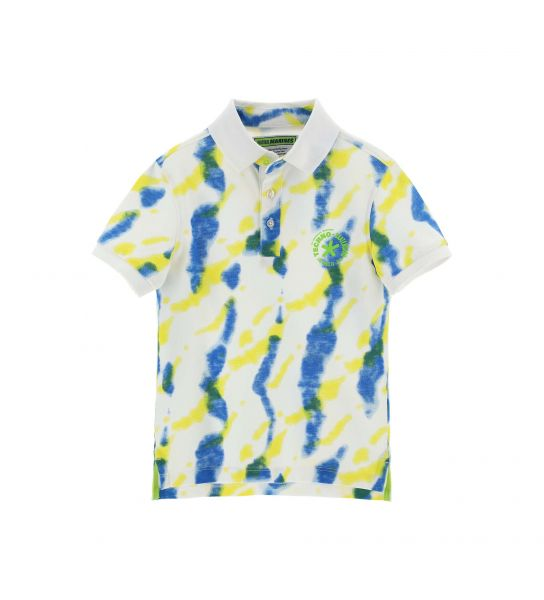 POLO PIQUET SHORT SLEEVE ALL OVER PRINT