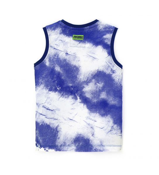 TANK TOP IN COTTON AND ALL OVER PRINT