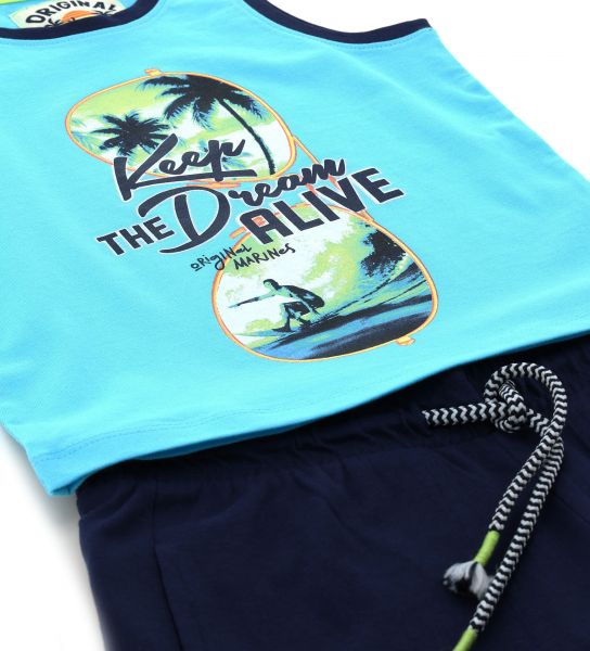 COMPLETE TANK TOP AND SHORT WITH PRINTS