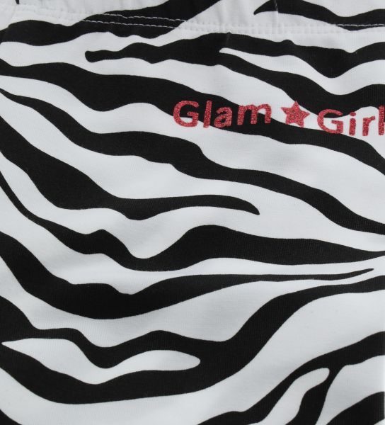 LEGGINGS WITH GLITTER PRINT