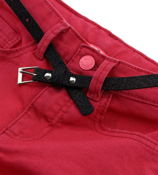 ELASTICIZED TROUSERS WITH BELT