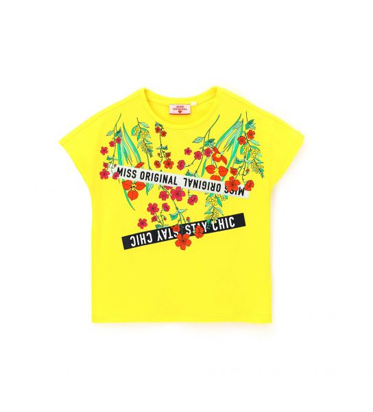 SHORT SLEEVE T-SHIRT WITH GLITTER