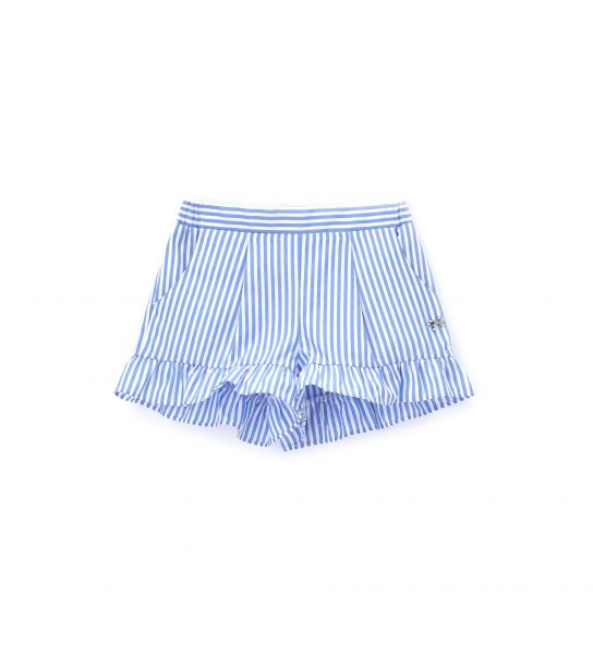 SHORT WITH RUFFLES AT THE BOTTOM