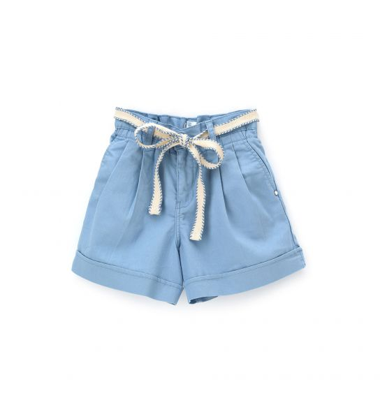 SHORT WITH CUFFS AT THE BOTTOM