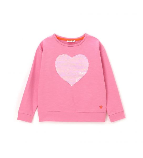 SWEATSHIRT IN ORGANIC COTTON WITH SEQUINS