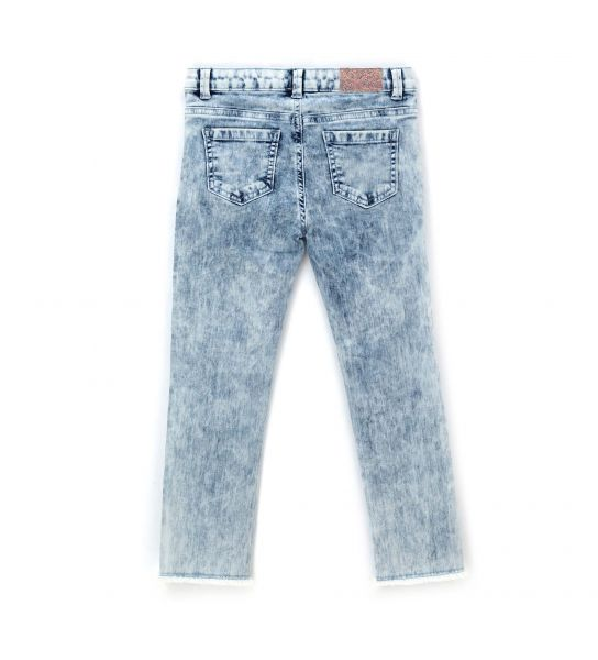COTTON JEANS WITH SEQUINS