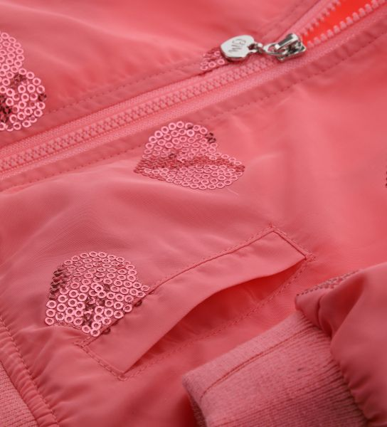 JACKET IN TECHNICAL FABRIC WITH SEQUINS