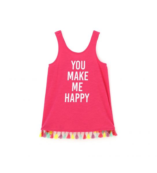 TANK TOP WITH COLORFUL TASSEL PATTERN