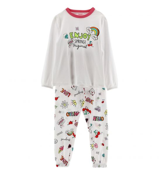 LONG SLEEVE PAJAMAS WITH PRINT