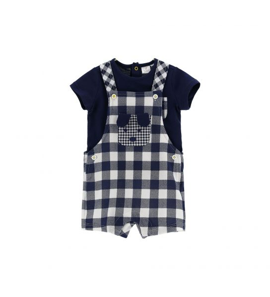 T-SHIRT AND DUNGAREES SET