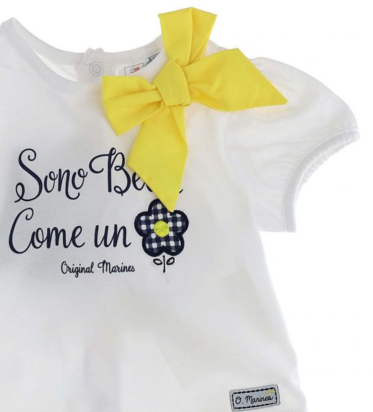 SHORT SLEEVE AND SHORT T-SHIRT WITH BOW