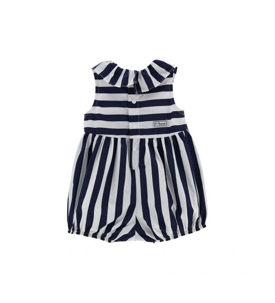 COTTON ROMPER WITH RUFFLES