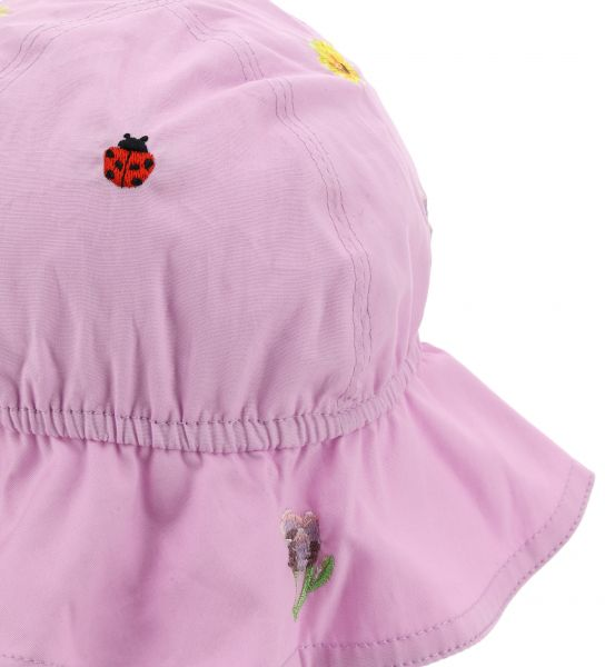 HAT WITH EMBROIDERY AND ADJUSTABLE LACES