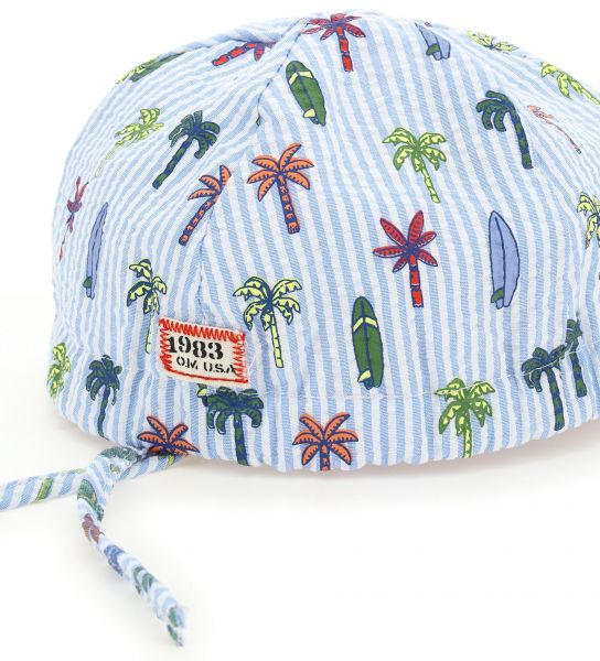 COTTON HAT WITH ALL OVER PRINT