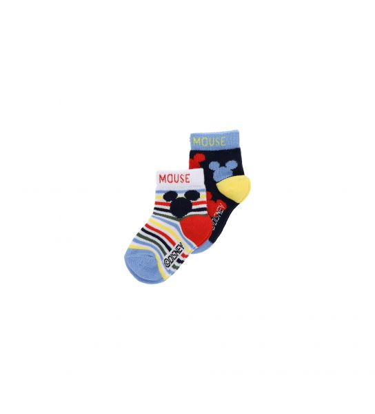 SHORT SOCKS BIPACK MICKEY MOUSE