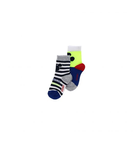 SHORT SOCKS MICKEY MOUSE BI-PACK