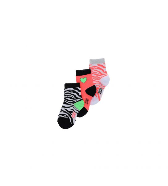SHORT SOCKS IN MIXED COTTON JACQUARD