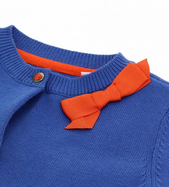 COTTON PULLOVER CARDIGAN WITH RIBBED FINISHES